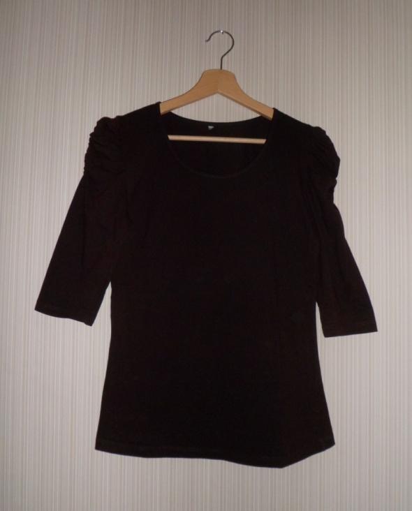 Bluzki Brązowa bluzeczka bufki