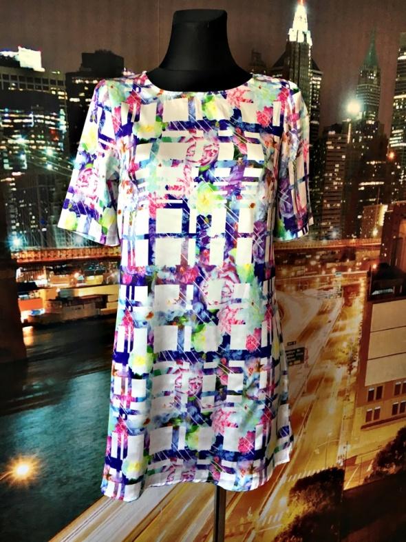 missguided sukienka modny wzór kratka kwiaty HIT 36 s