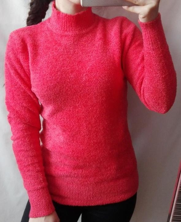 Sweter półgolf włochacz neon rozmiar XS S