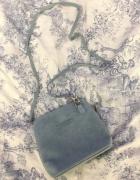 Mała włoska listonoszka torebka skórzana zamszowa Vittoria Gott...