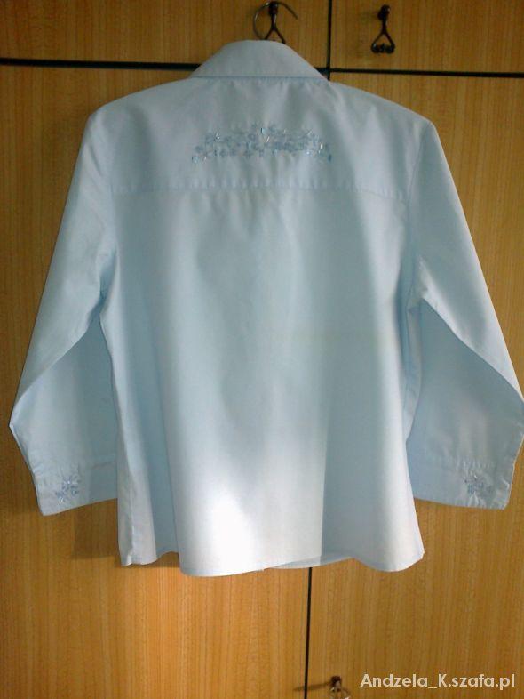 Błękitna bluzka z kołnierzykiem z cekinami S