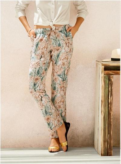 Lniane spodnie Esmara