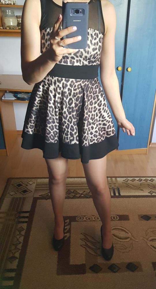 Sukienka w panterkę S XS