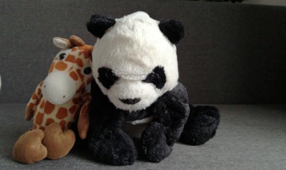 Pluszaki Panda i Żyrafa