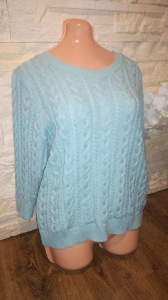 Sweter sweterek H&M miętowy turkusowy M splot...
