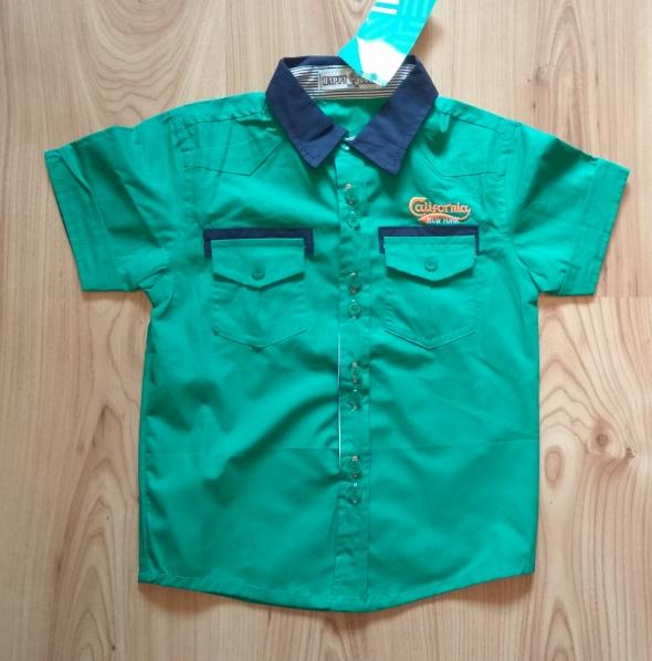 Bluzki Nowa zielona koszula chłopięca 98 104
