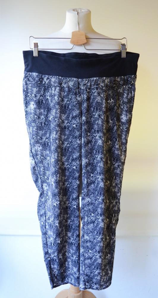 Spodnie H&M Mama XL 42 Skóra Węża Ciążowe Ciąża Dresy