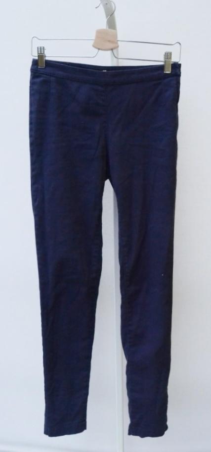 Spodnie H&M XS 34 Granat Wyższy Stan Suwak