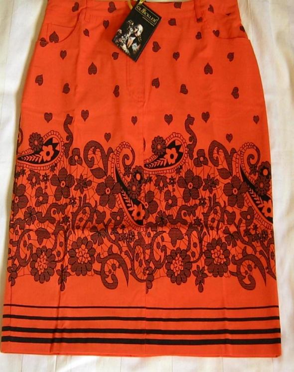Pomarańczowa elegancka oryginalna spódnica r40