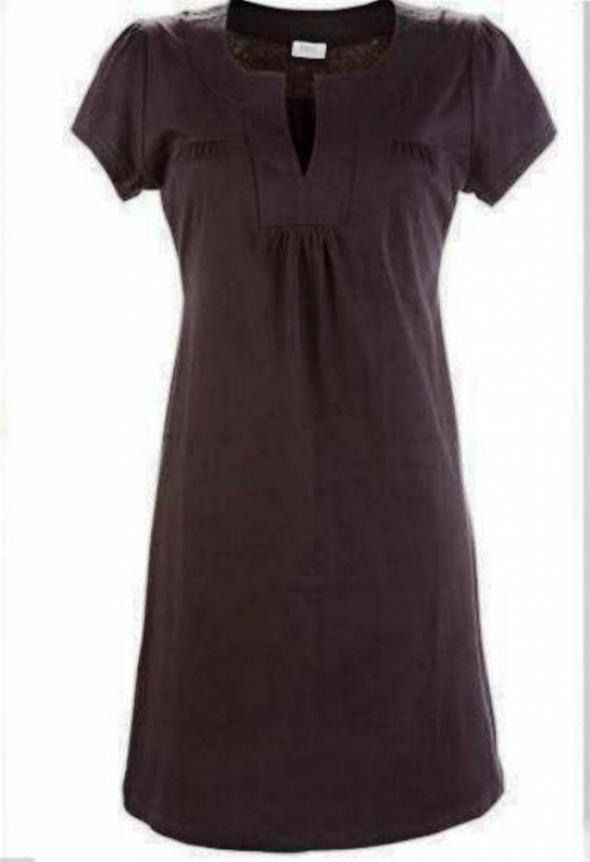Czarna bawełniana sukienka prosta i lekka lato