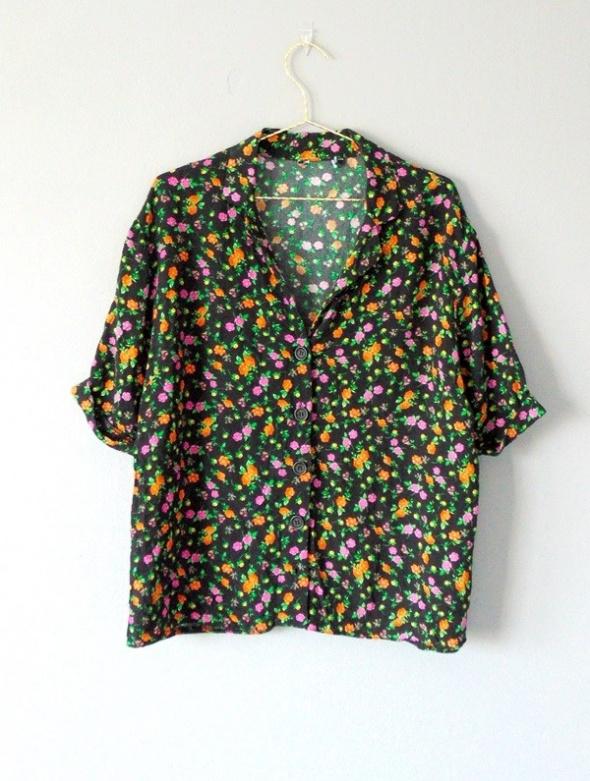 Koszula retro vintage w kwiatki...