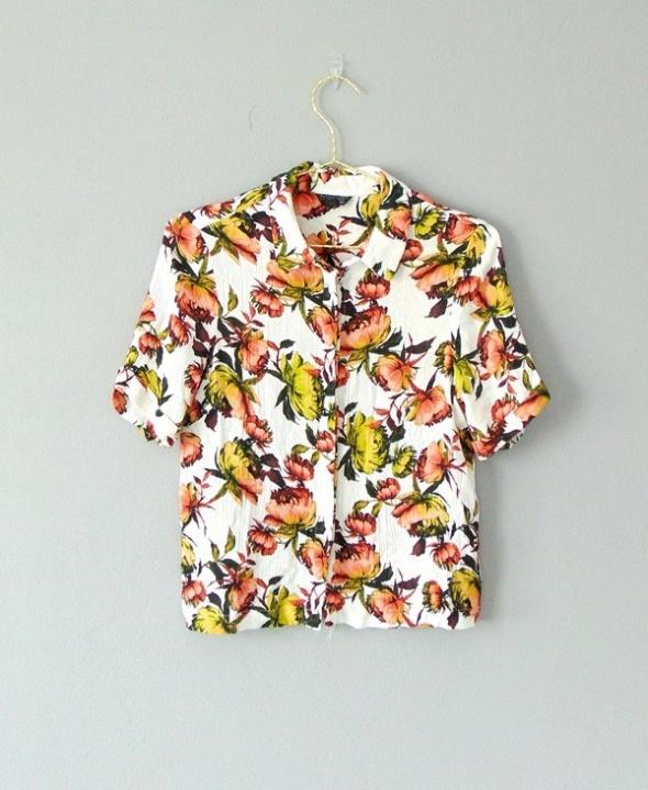 Topshop koszula w kwiaty 36...