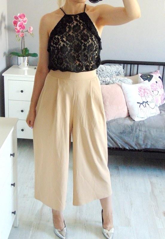 LIPSY eleganckie spodnie kuloty 46