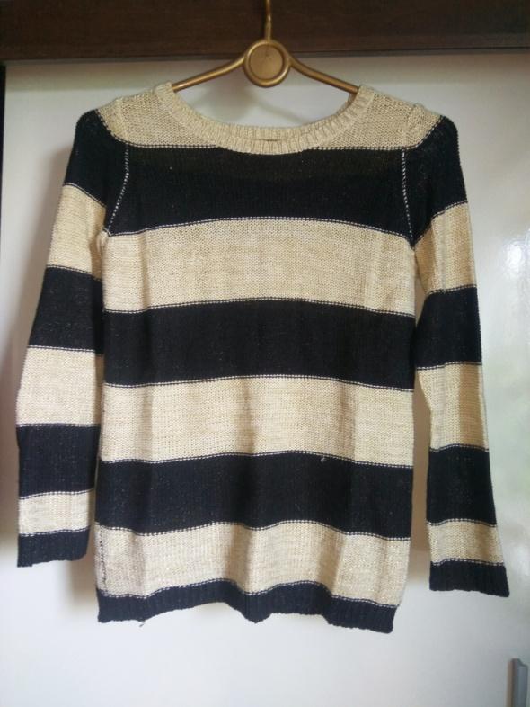 Sweter paski czarno złote Reserved r S...