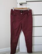 Bordowe spodnie rurki H&M piękne i modne...