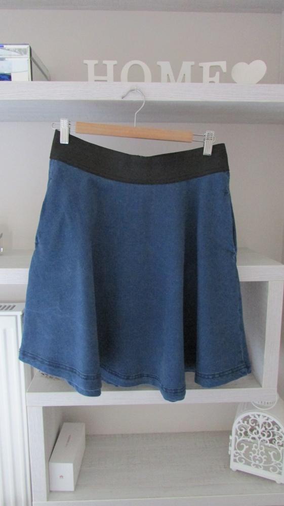 Spódnice Fajna jeansowa spódnica z koła