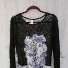 Bluzka markowa Vila koronka z kornki kwiaty WIOSNA