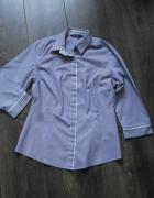 Paseczki fioletowo białke bluzka koszula 38...