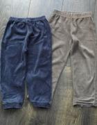 2 pary welurowych spodni 104...