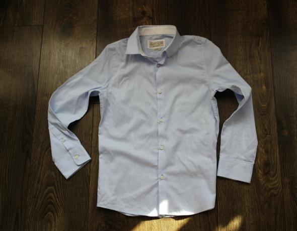 Zara Boys koszula niebieska 140
