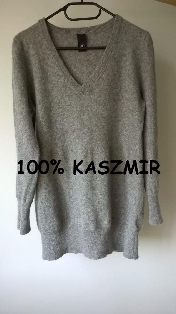 Kaszmirowy sweterek w serek M L Best Connections
