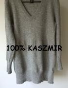 Kaszmirowy sweterek w serek M L Best Connections...