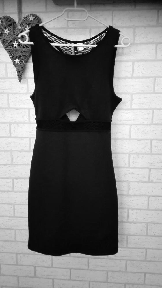 H&M sukienka ołówkowa z siateczka