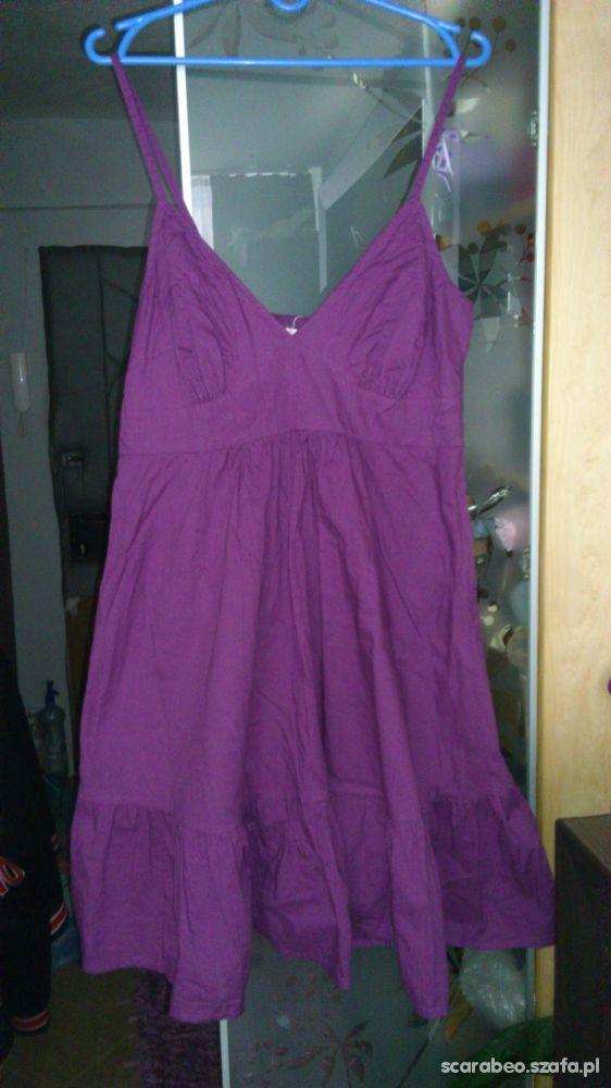 sukienka na lato fiolet bawełna XL XXL