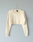 New Look puchaty sweter cropped 36...