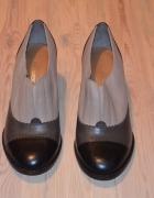 Szare buty damskie...