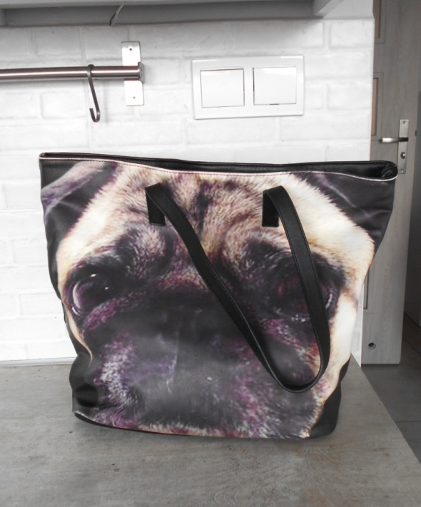 Sinsay torba shopper mops pug...