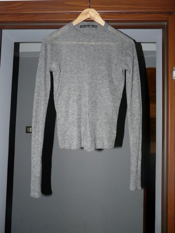 Sweter mgiełka ZARA szary M domieszka wełny...