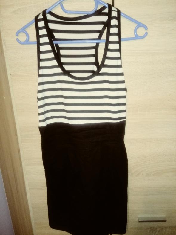 Suknie i sukienki Letnia sukienka dół czarny góra w paski