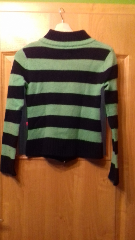 Sweter rozpinany w paski punk ORSAY...
