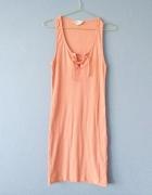 Sukienka morelowa ze sznurowaniem na dekolcie38...