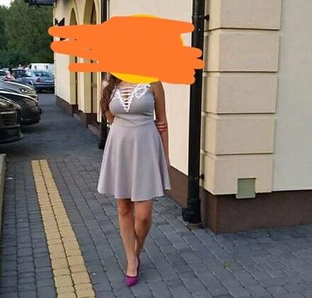 Sukienka szara S M