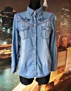 denim co koszula jeansowa dżins modny haft hit blog 38 M...