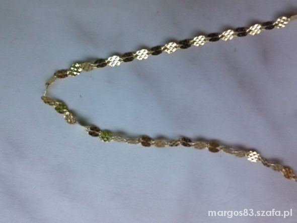 Łańcuszek srebrny złocony