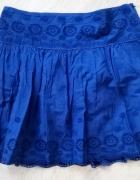 granatowa spódniczka z haftem...