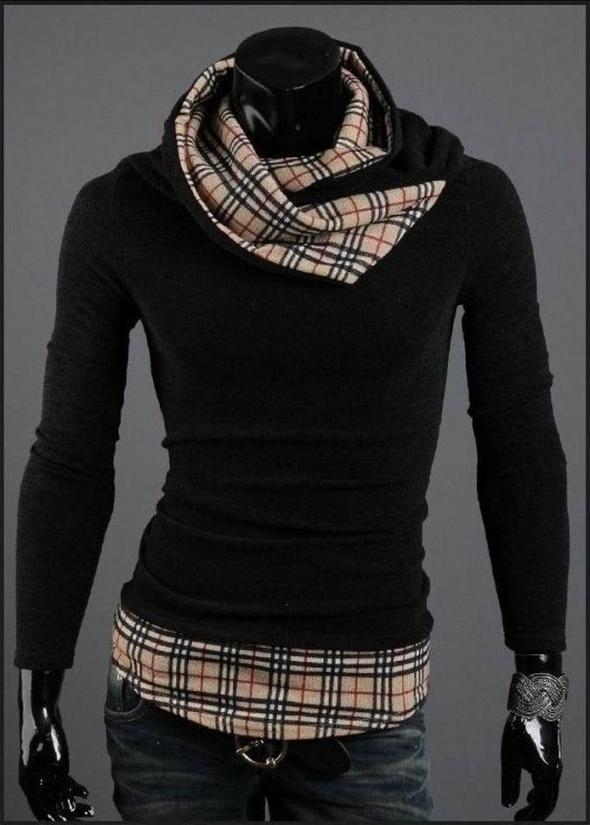 Nowy męski sweterek z materiałem wszytym XL...