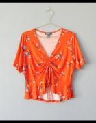 Primark pomarańczowy top w kwiaty 44...