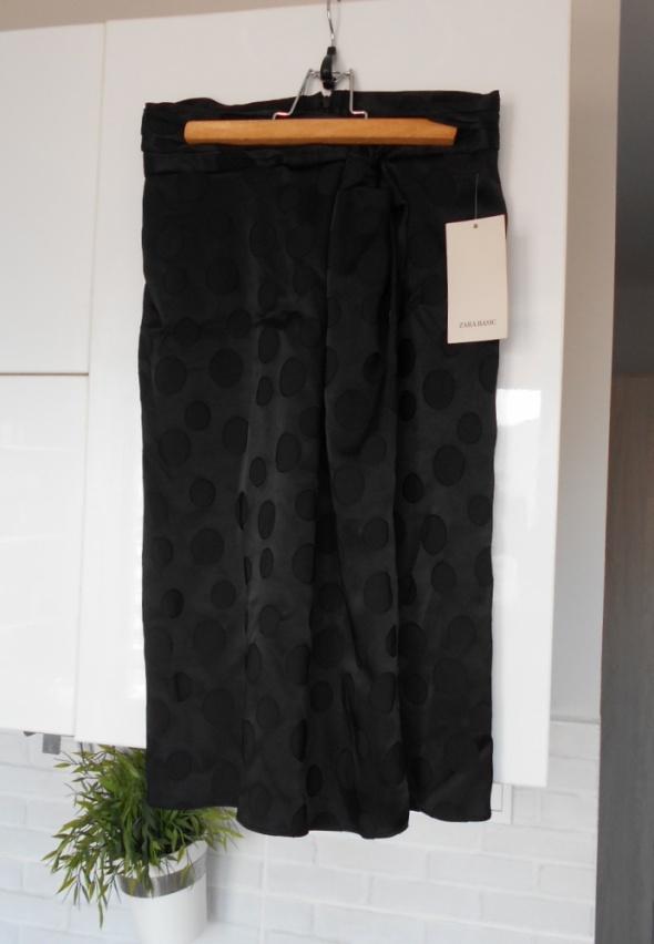 Zara nowa spódnica midi grochy kropki satynowa