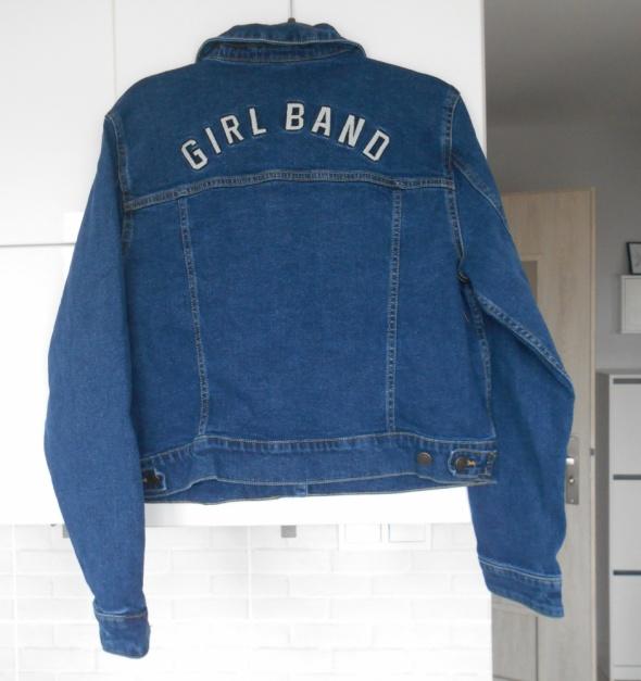 Bershka nowa katana jeansowa napis na plecach haft