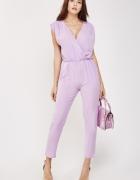 Nowy fioletowy kombinezon M 38 L 40 długie spodnie lekki zwiewn...