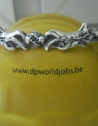 Ciekawa srebrna orientalna bransoletka 20 gr...