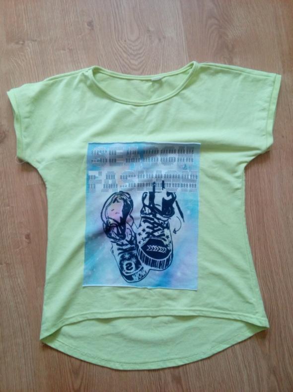 Neonowa bluzka 152 cm...