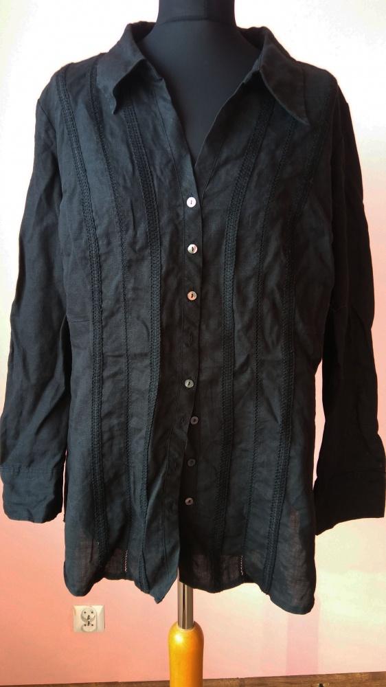 Koszule Koszula Lniana marks&spencer 52 bluzka