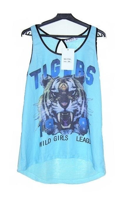 błękitna mgiełka szyfonowa tygrys