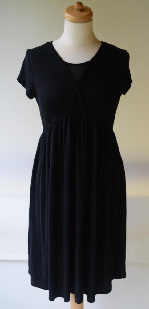 Sukienka Czarna Siateczka Pracy Lindex S 36