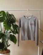 Szara bluza dresowa H&M sportowa na zamek...